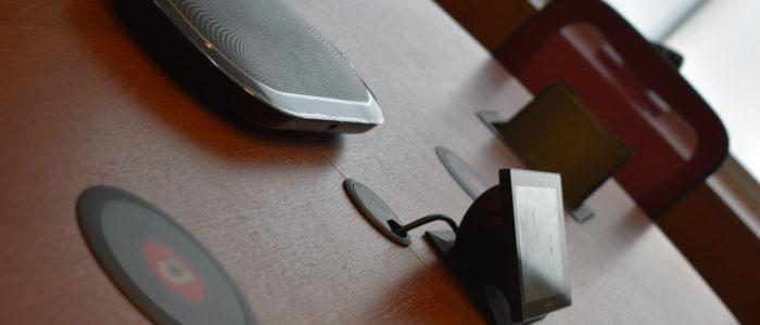equipo de sonido para sala de conferencias